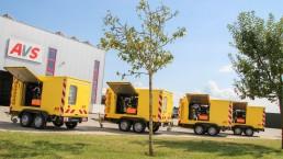4 x 100 kVA Energieversorger fahrbar
