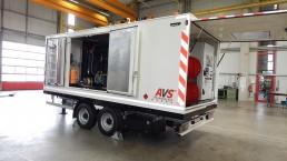 275 kVA Energieversorger fahrbar Tandem-Fahrgestell