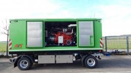 400 kVA Energieversorger fahrbar 2-Achs-Anhänger