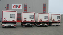 4x400 kVA Energieversorger fahrbar 2-Achs-Anhänger