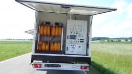 500-650 kVA Energieversorger fahrbar Tandem-Fahrgestell