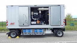 650 kVA Energieversorger fahrbar 2-Achs-Anhänger