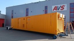 800 kVA und 60 kVA 40 Fuss Container