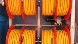 Elektrische Kabeltrommel im Heck verbaut