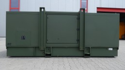 125 kVA Bundeswehr Stromaggregat mit VSCF Technologie