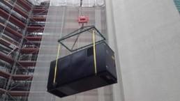 200 kVA Montage auf Hochhaus