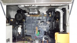 200 kVA Stromaggregat mit Partikelfilter