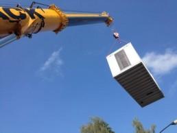 250 kVA Montage 20 Fuß Container auf Dach