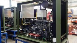 40 kVA Einbauaggregat für Feldküchen