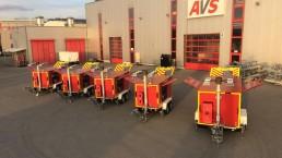 40 kVA und 125 kVA Katastrophenschutz Flutlicht LED