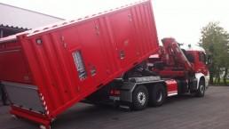 500 kVA Abrollcontainer Feuerwehr