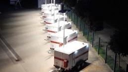 60 kVA Katastrophenschutz Flutlicht