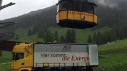 700 kVA Montage auf dem Nebelhorn