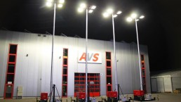 8 kVA mit 13m Lichtmast Flutlichtaggregat Customized Solution