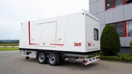 AVS Stromerzeuger auf Tandem Fahrgestell
