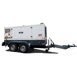 Mobiles 100 kVA Gebrauchtaggregat der AVS Aggregatebau