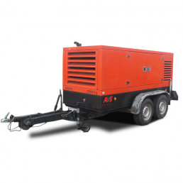 Mobiles 60 kVA Gebrauchtaggregat der AVS Aggregatebau